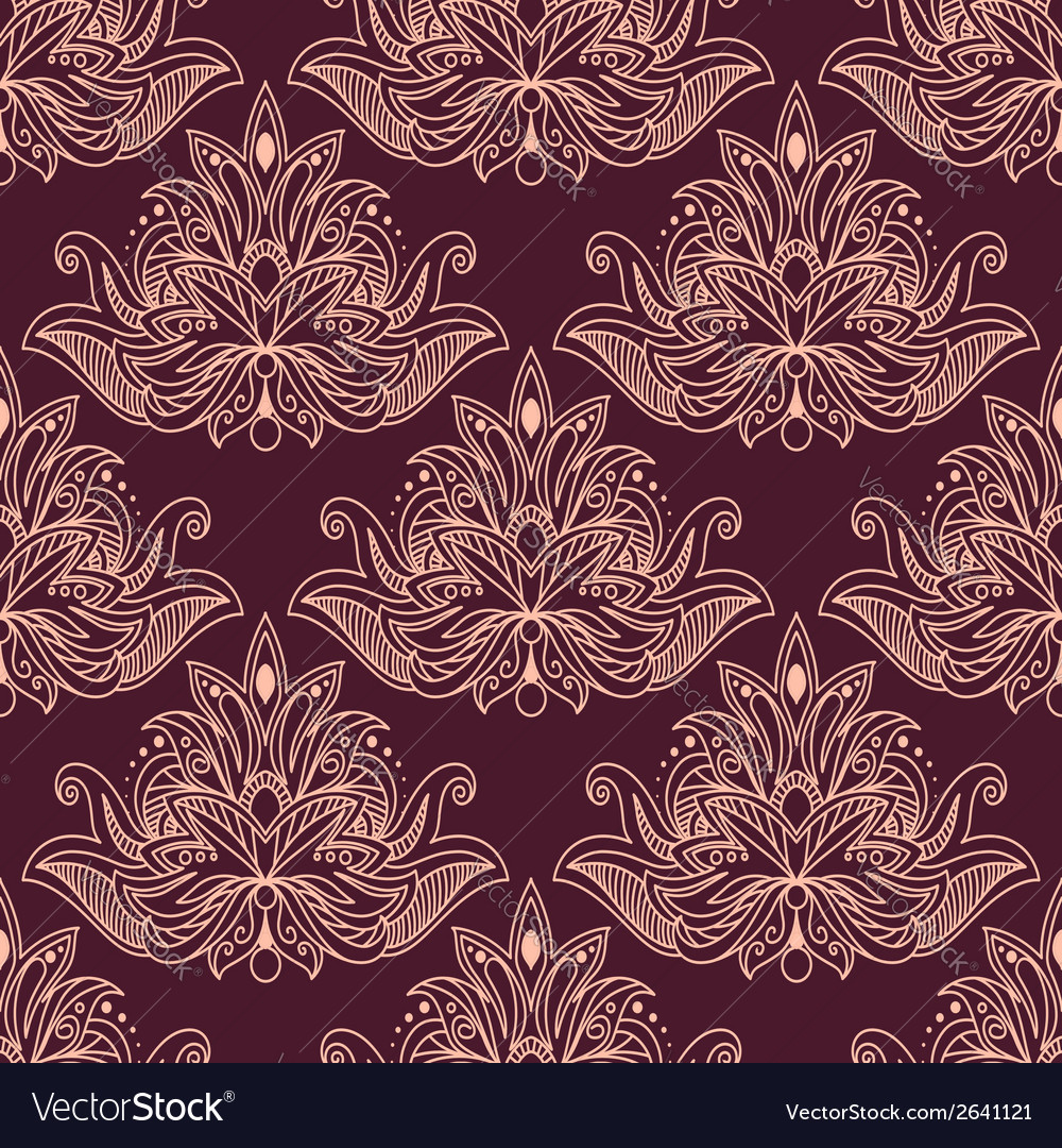 Persian seamless floral pattern vector | Price: 1 Credit (USD $1)