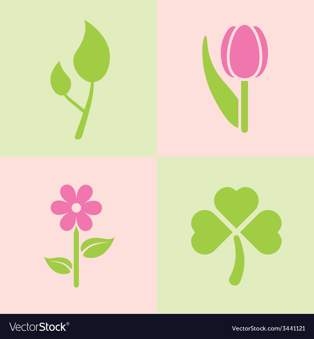 Spring plants vector | Price: 1 Credit (USD $1)