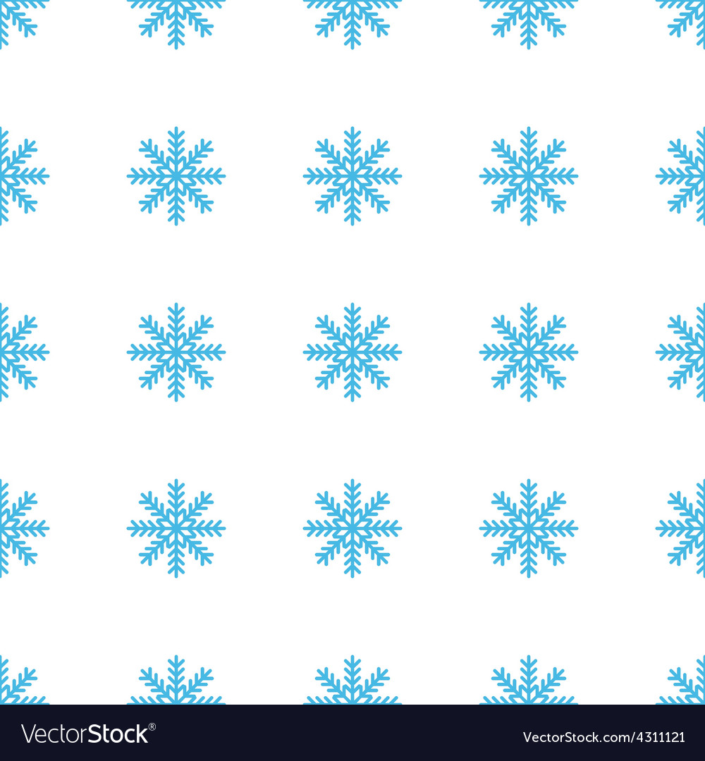 Unique snowflake seamless pattern vector | Price: 1 Credit (USD $1)