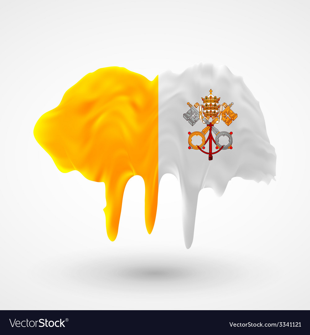 Vatican flag painted colors vector | Price: 1 Credit (USD $1)