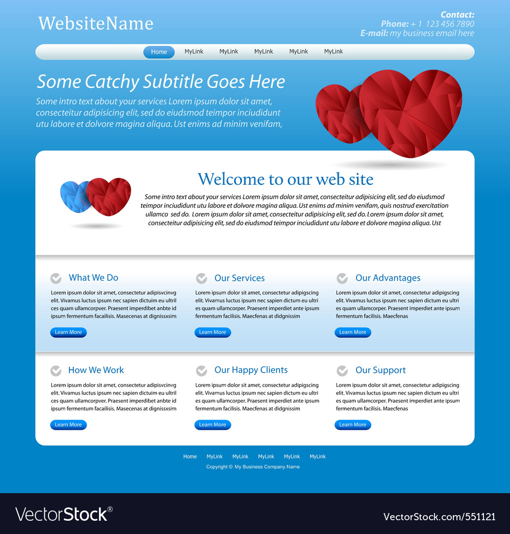 Website medical template vector | Price: 1 Credit (USD $1)