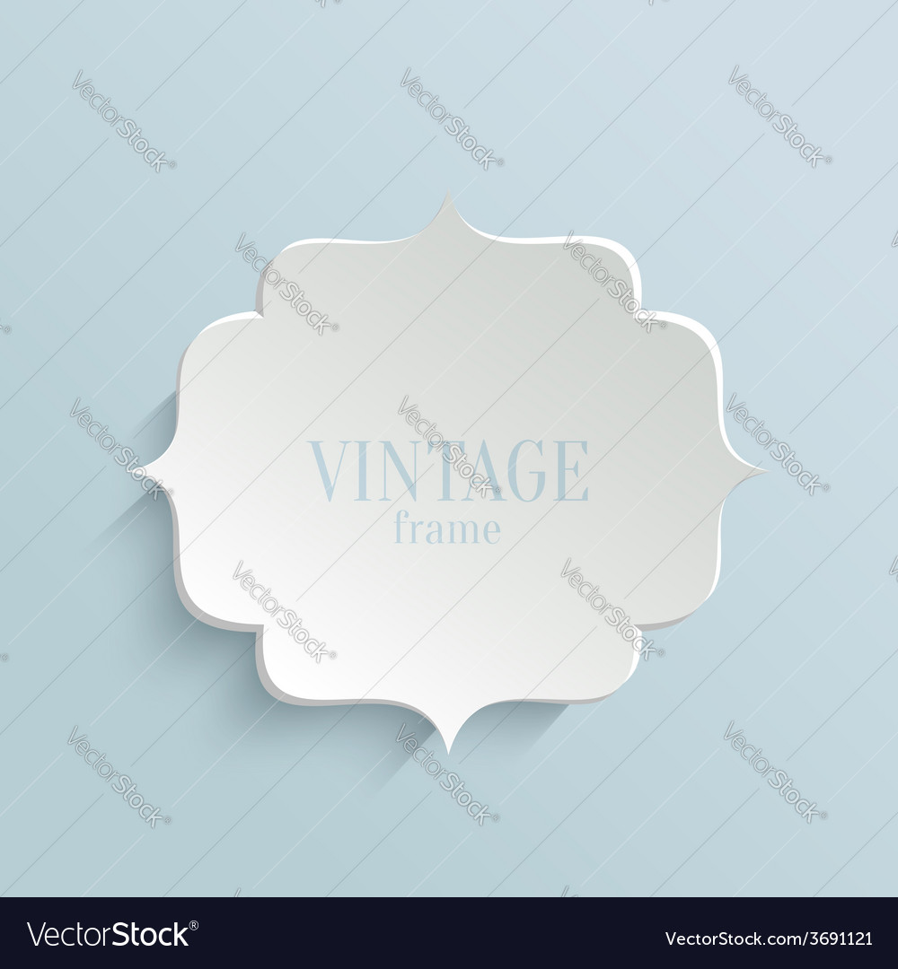 White paper banner in vintage or retro style vector | Price: 1 Credit (USD $1)