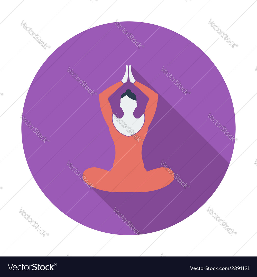 Yoga flat icon vector | Price: 1 Credit (USD $1)