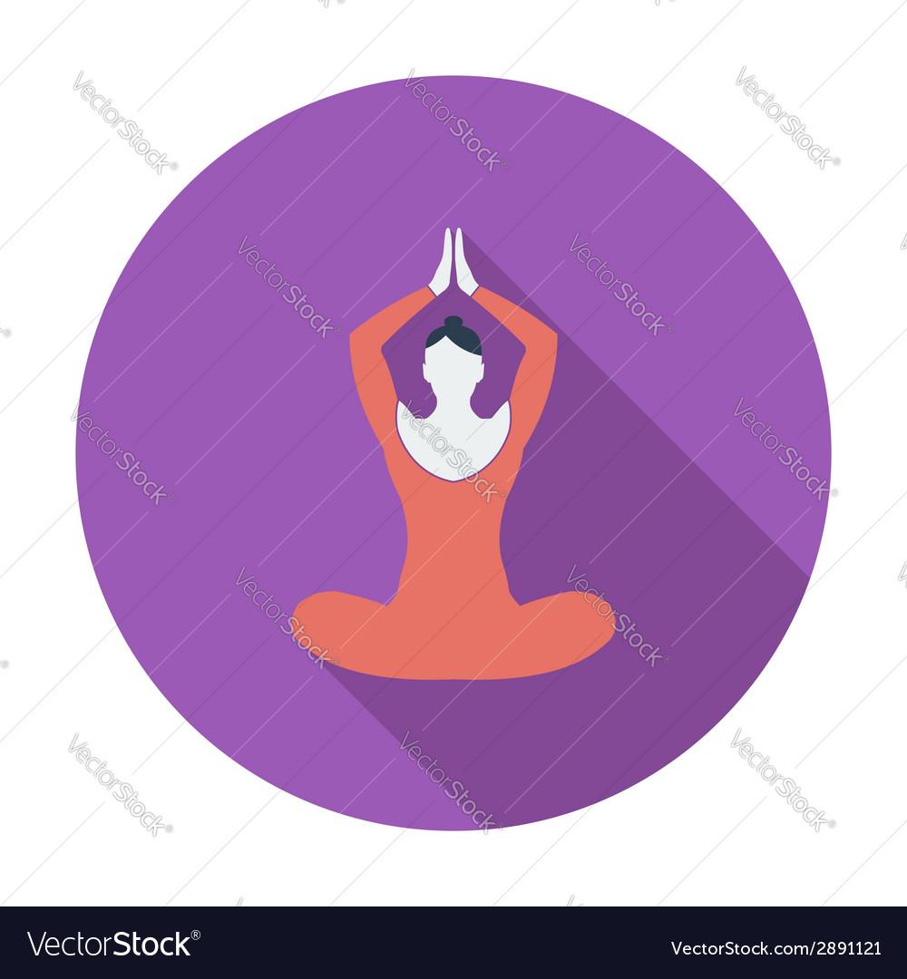 Yoga flat icon vector | Price: 1 Credit (USD $1)
