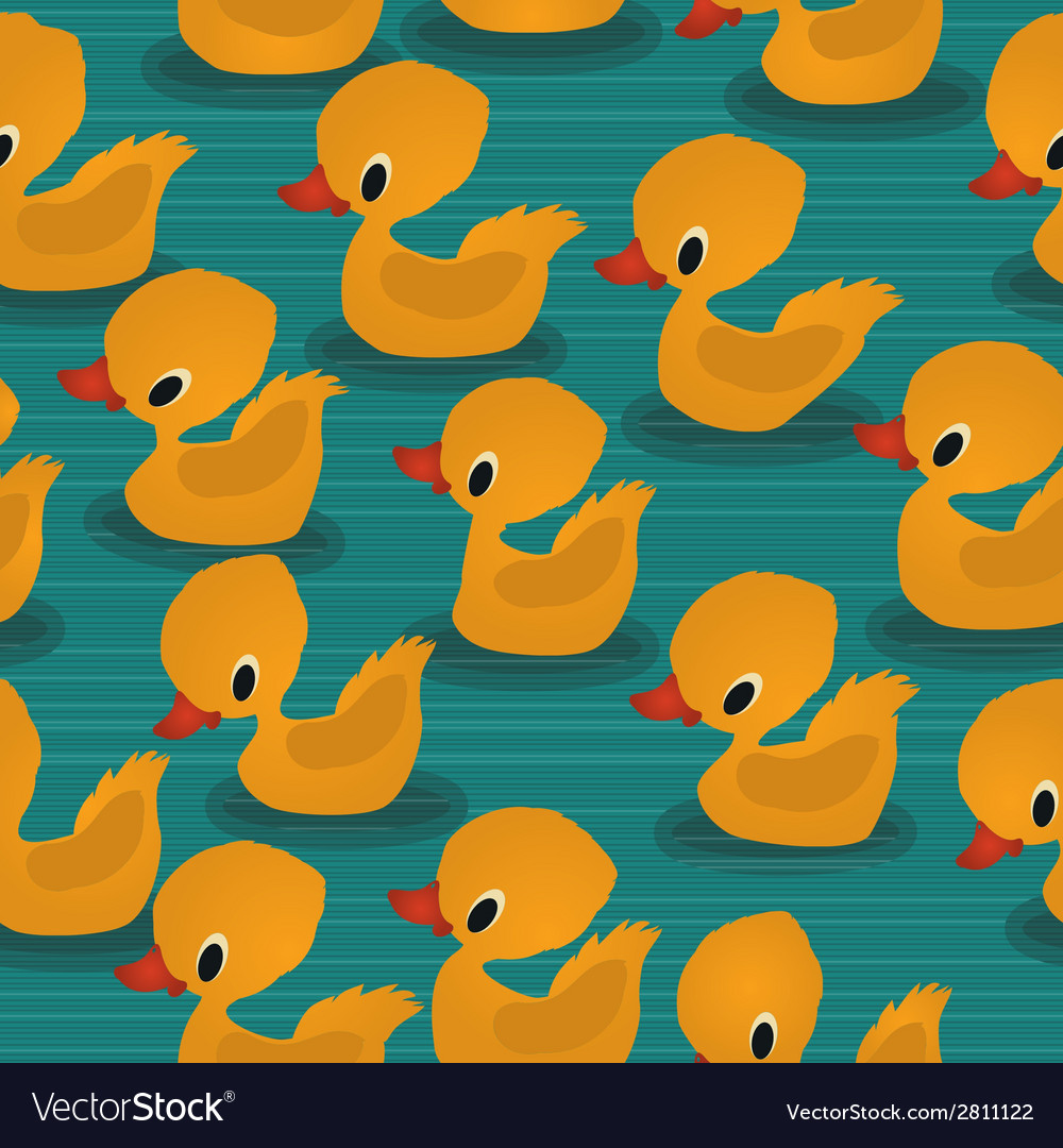 Baby ducks pattern vector | Price: 1 Credit (USD $1)