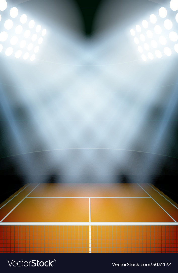 Background for posters night tennis stadium in the vector | Price: 1 Credit (USD $1)
