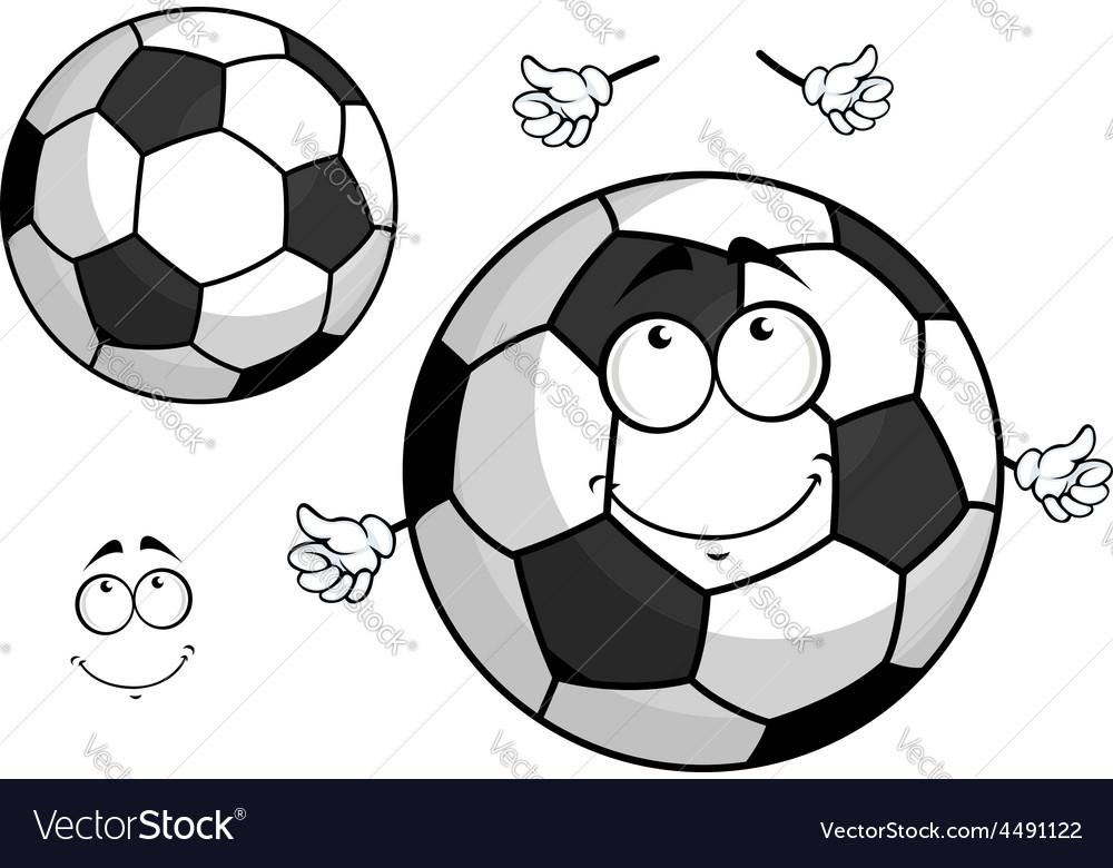 Cartoon football or soccer ball mascot vector | Price: 1 Credit (USD $1)