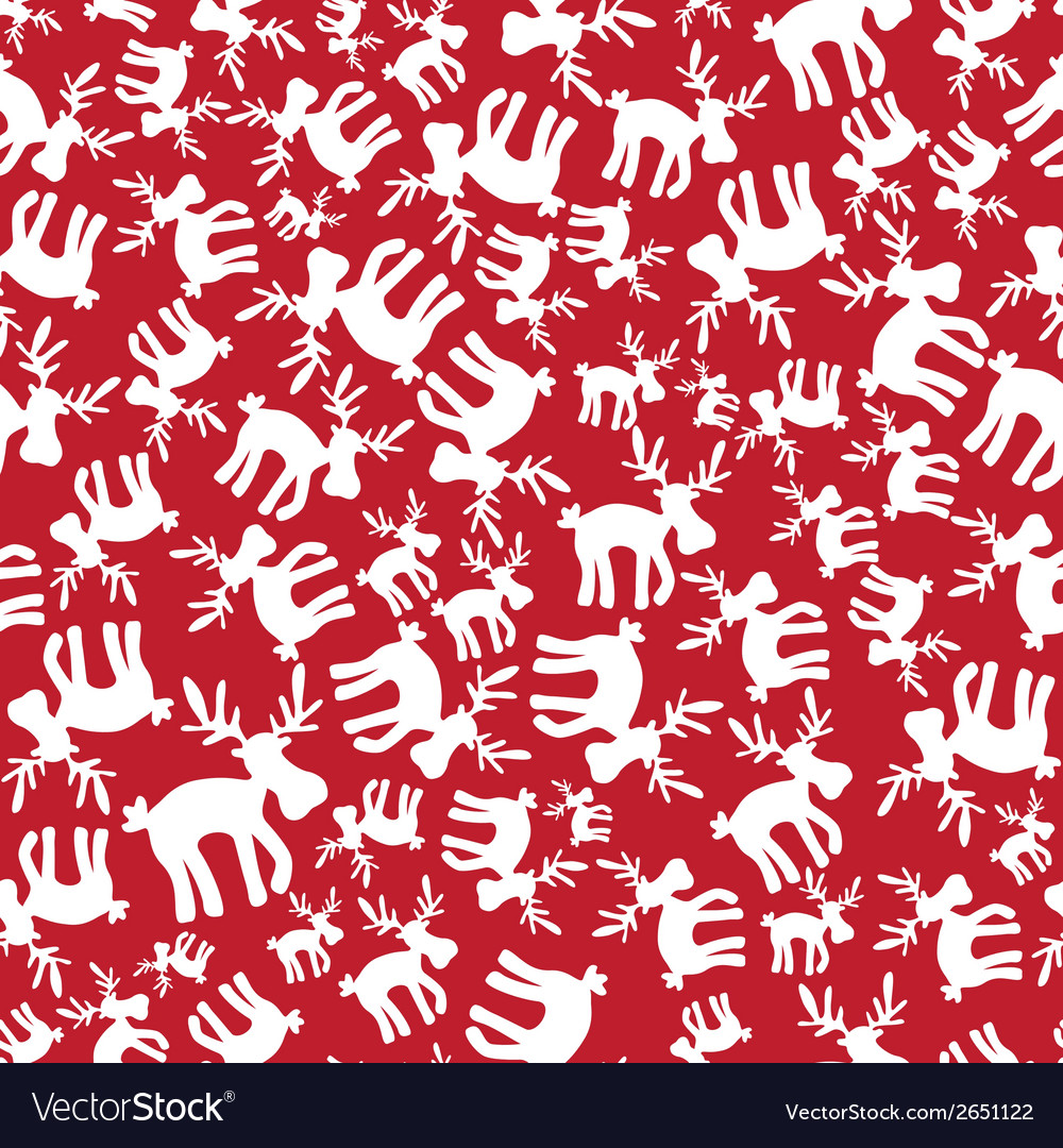 Christmas reindeer red pattern eps10 vector | Price: 1 Credit (USD $1)