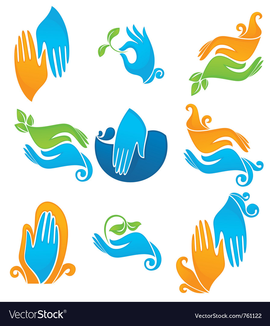 Clean and natural hands vector | Price: 1 Credit (USD $1)