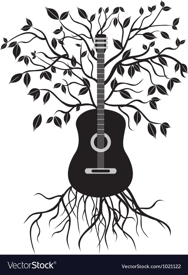 Guitar tree vector | Price: 1 Credit (USD $1)