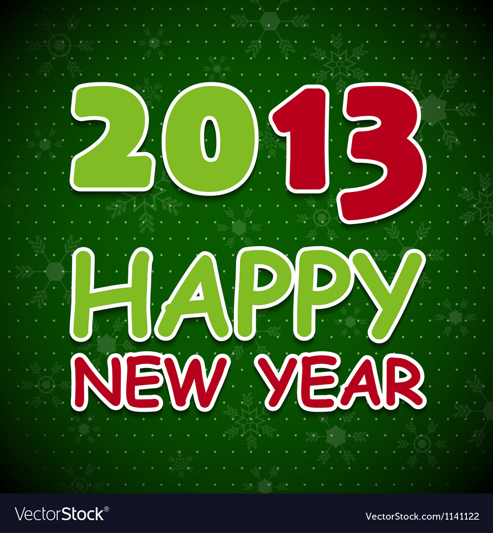 New 2013 year card vector | Price: 1 Credit (USD $1)