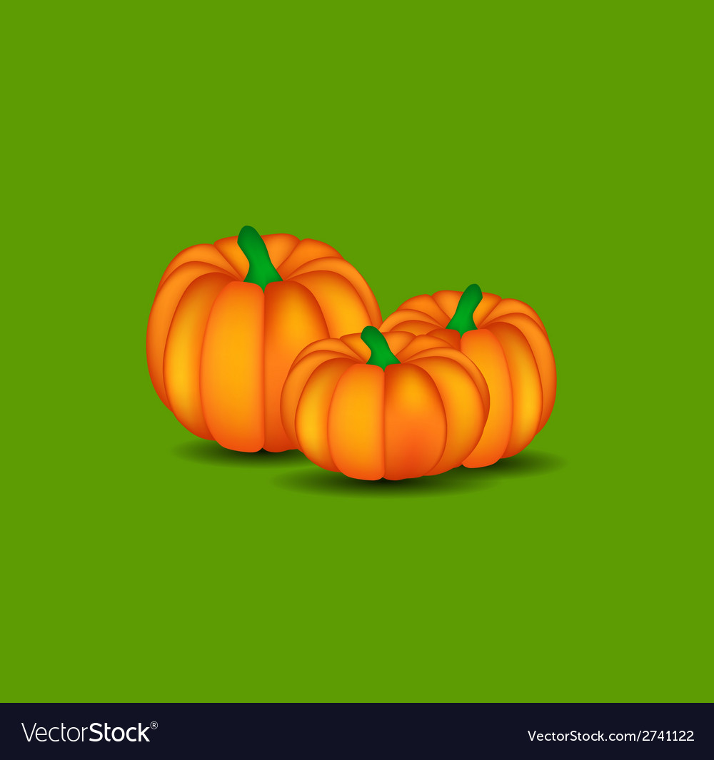 Orange pumpkin background vector | Price: 1 Credit (USD $1)