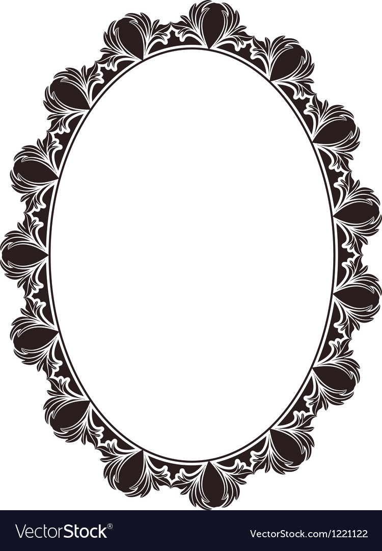 Oval frame vector | Price: 1 Credit (USD $1)
