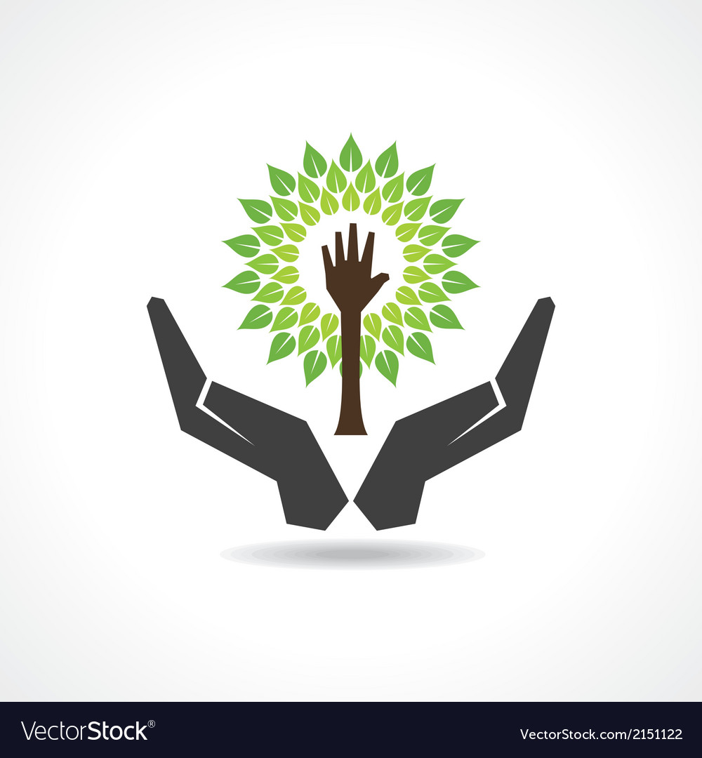 Save nature concept vector | Price: 1 Credit (USD $1)