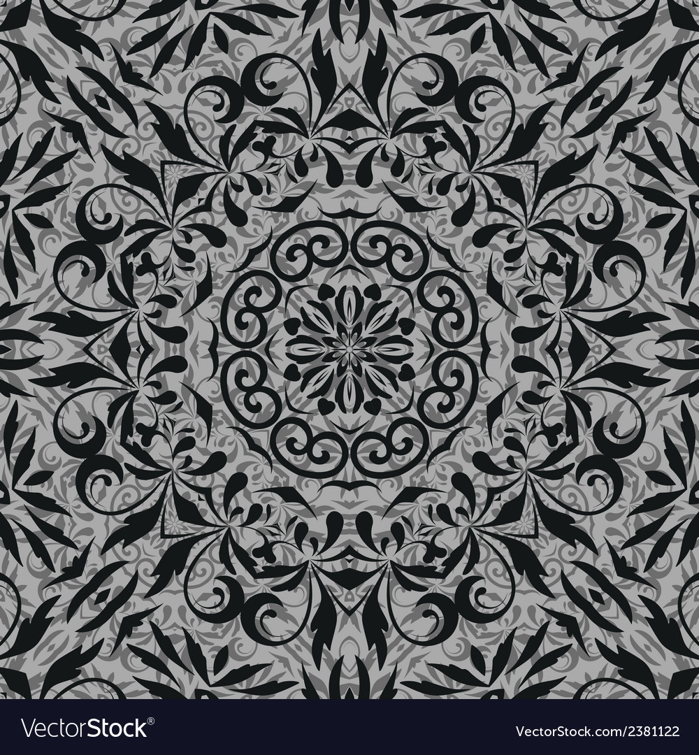 Seamless abstract floral outline pattern vector   Price: 1 Credit (USD $1)