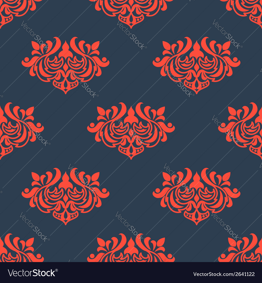 Seamless floral pattern with arabesque elements vector | Price: 1 Credit (USD $1)