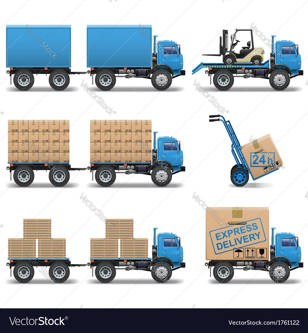 Shipment icons set 5 vector | Price: 3 Credit (USD $3)