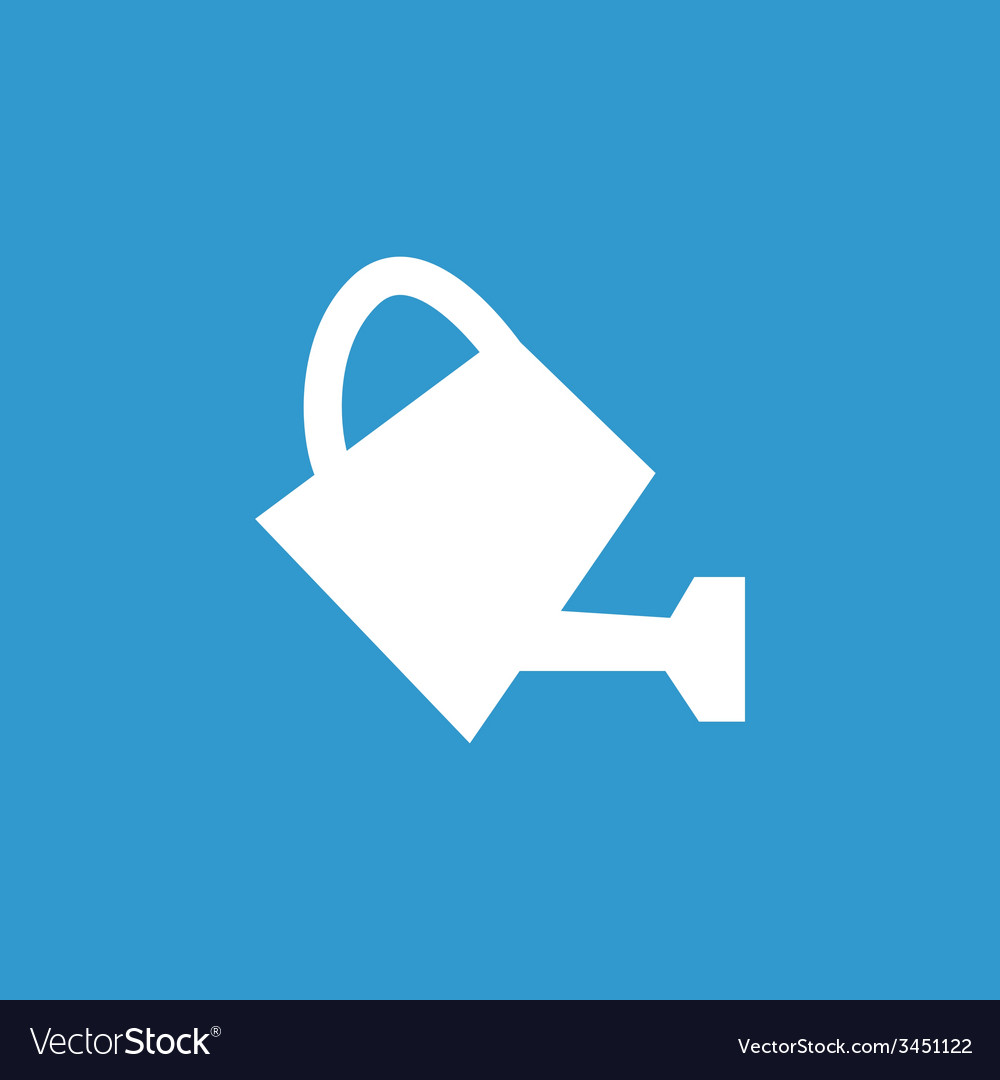 Watering can icon white on the blue background vector | Price: 1 Credit (USD $1)