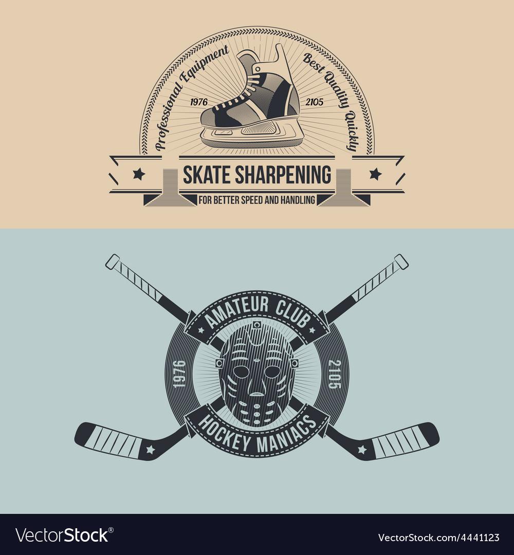 Emblem of the hockey club vector | Price: 1 Credit (USD $1)