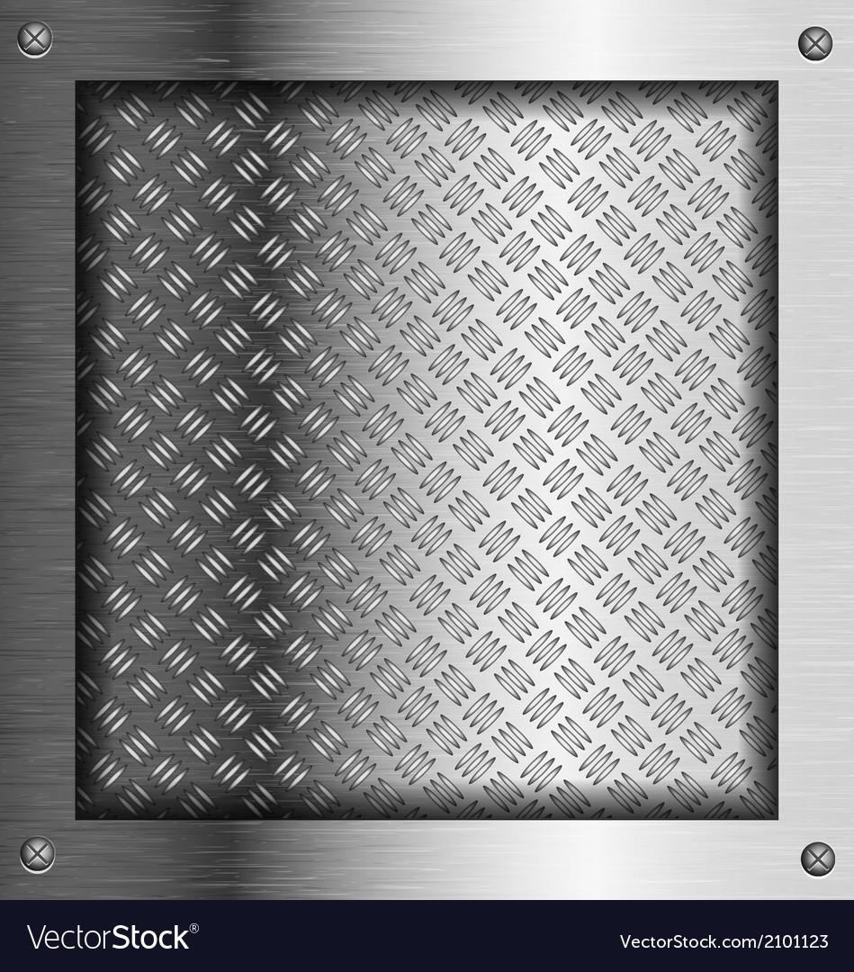 Embossed steel metal frame vector | Price: 1 Credit (USD $1)