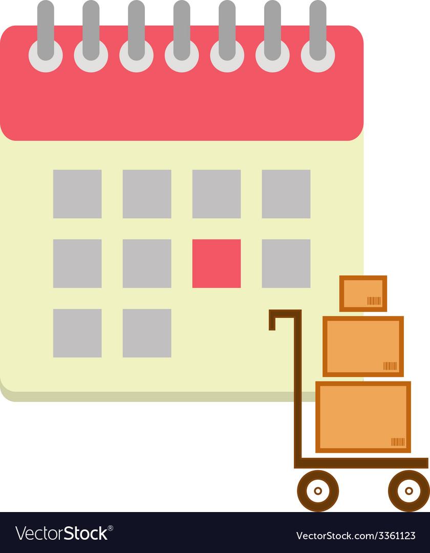 Flat style calendar icon vector   Price: 1 Credit (USD $1)