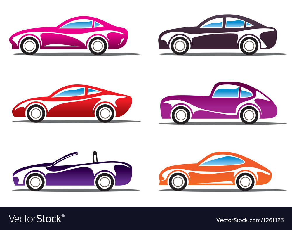 Luxury sport cars silhouettes vector | Price: 3 Credit (USD $3)