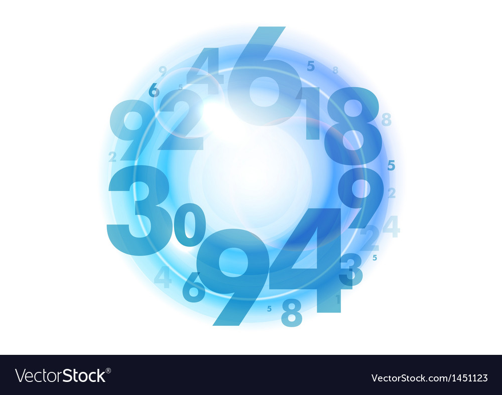 Numbers circle blue vector | Price: 1 Credit (USD $1)