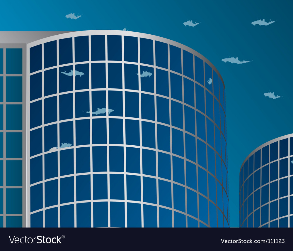 Office building on the skyline vector | Price: 1 Credit (USD $1)