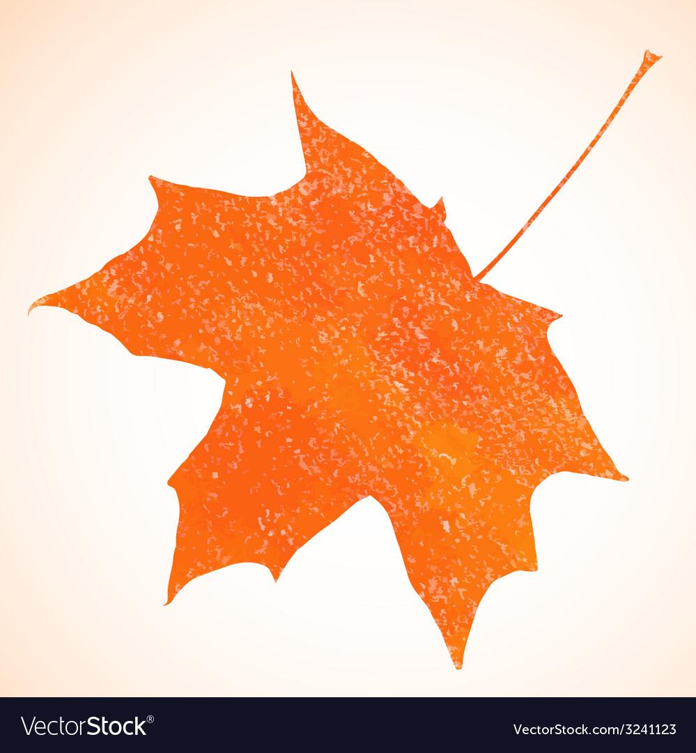Orange pastel crayon autumn maple leaf background vector   Price: 1 Credit (USD $1)