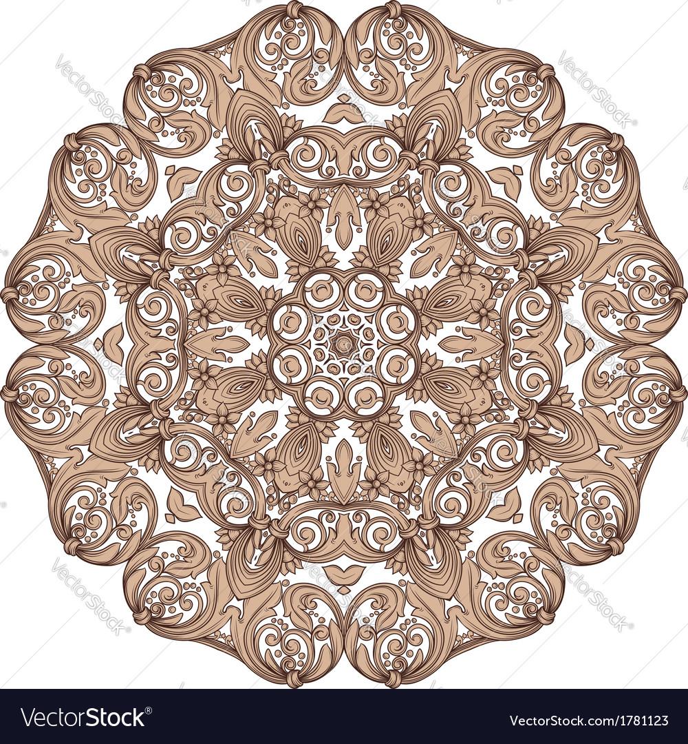 Round vintage pattern vector | Price: 1 Credit (USD $1)