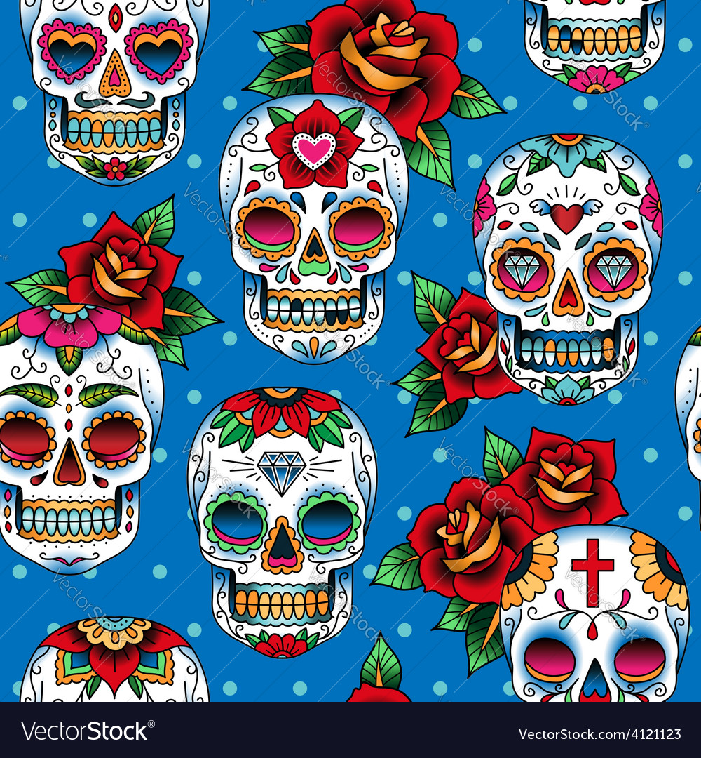 Scull pattern vector | Price: 1 Credit (USD $1)