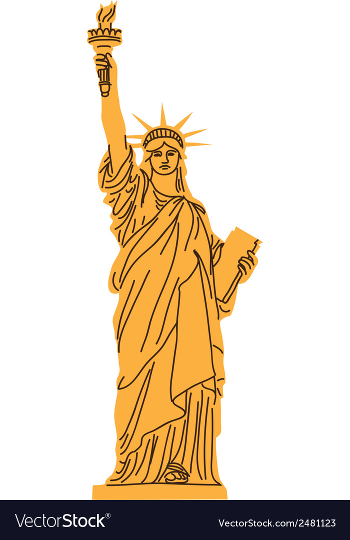 Statue of liberty isolated on white vector | Price: 1 Credit (USD $1)