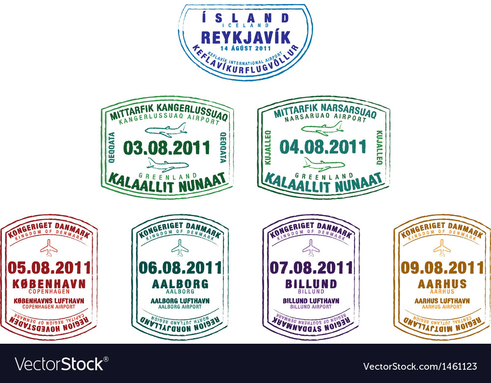 Various passport stamps vector | Price: 1 Credit (USD $1)