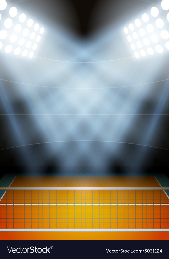 Background for posters night volleyball stadium in vector | Price: 1 Credit (USD $1)