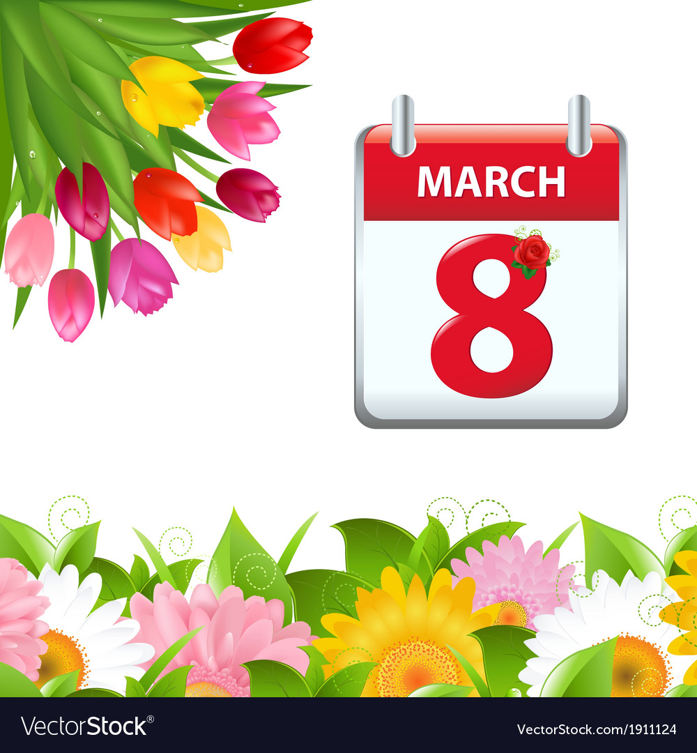Calendar and flower border vector | Price: 1 Credit (USD $1)