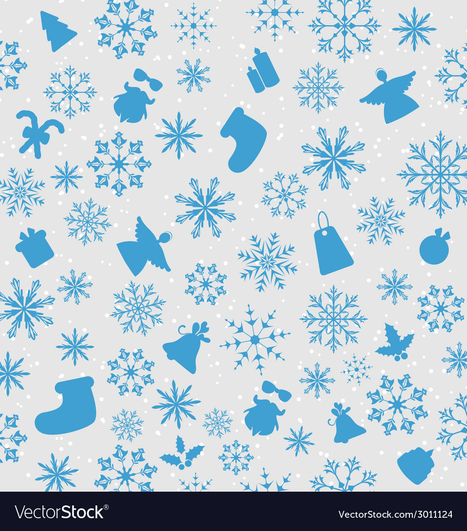 Christmas wallpaper with traditional elements vector | Price: 1 Credit (USD $1)