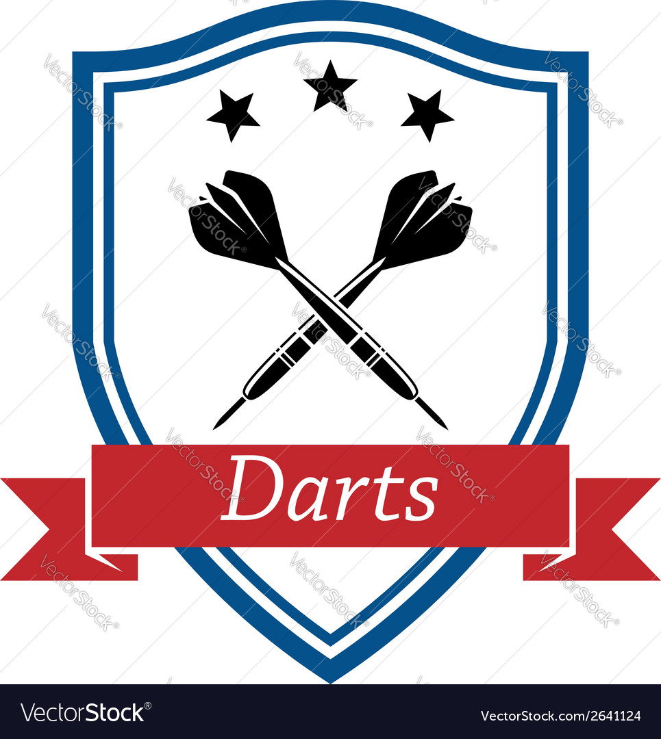 Darts sport icon vector | Price: 1 Credit (USD $1)