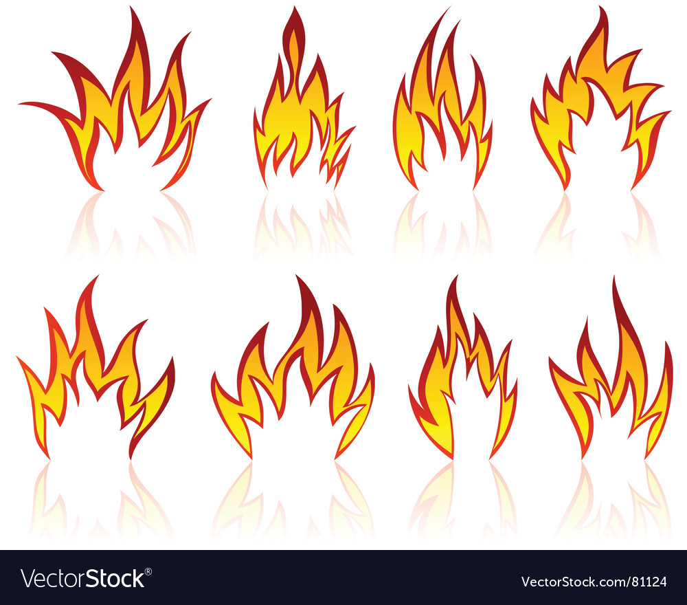Flame designs vector | Price: 1 Credit (USD $1)