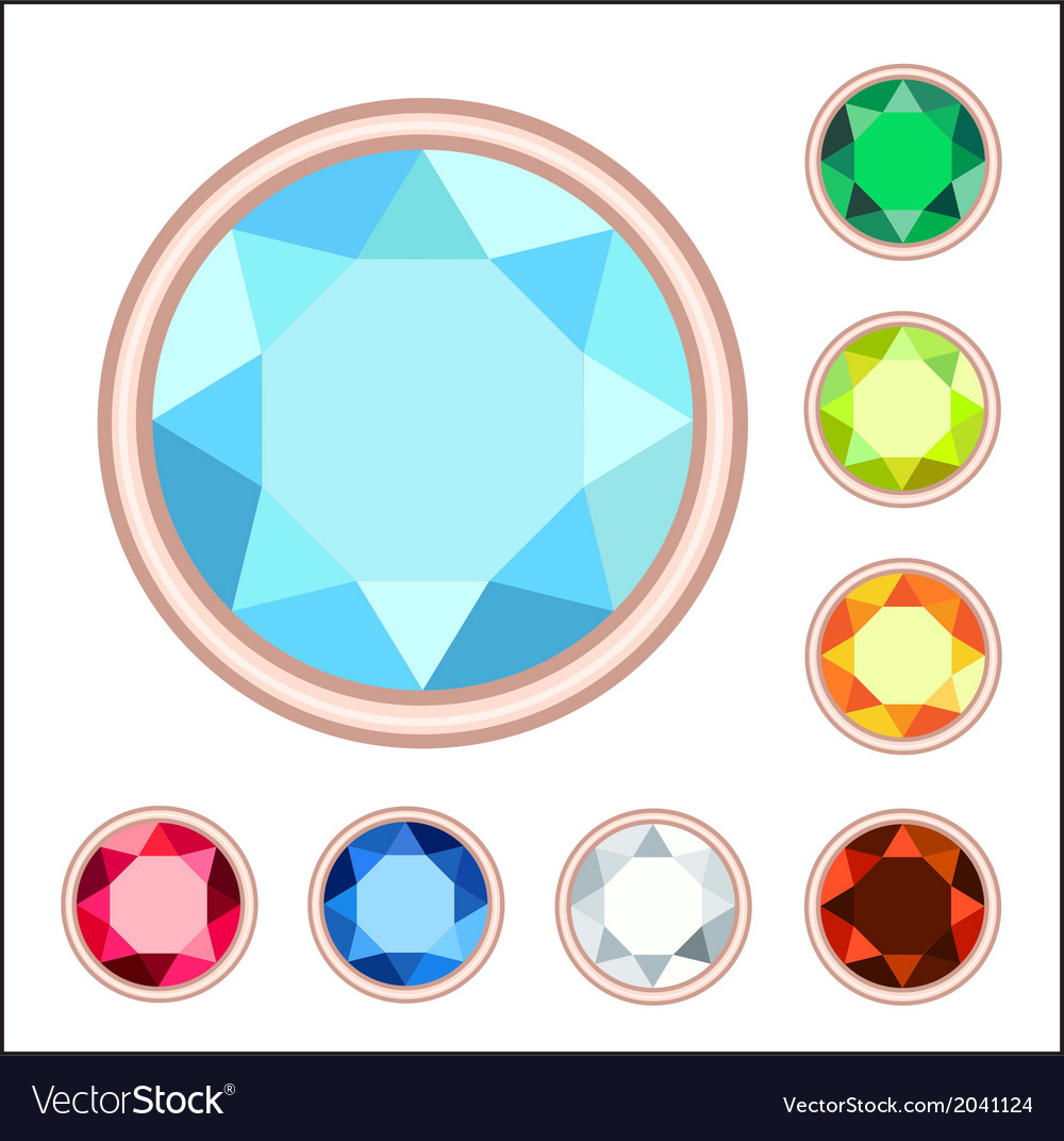 Gemstone set vector | Price: 1 Credit (USD $1)