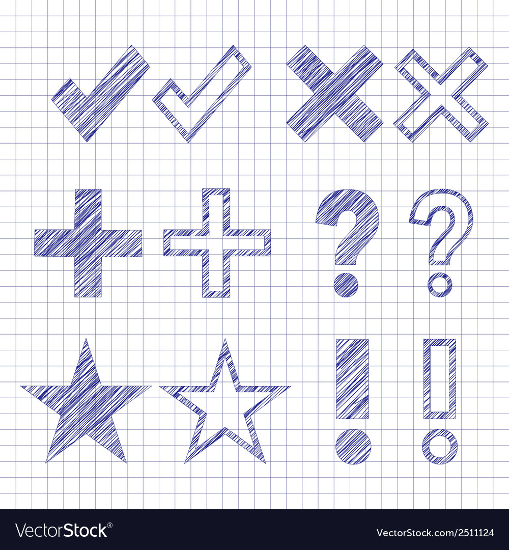 Hand drawn symbols vector | Price: 1 Credit (USD $1)