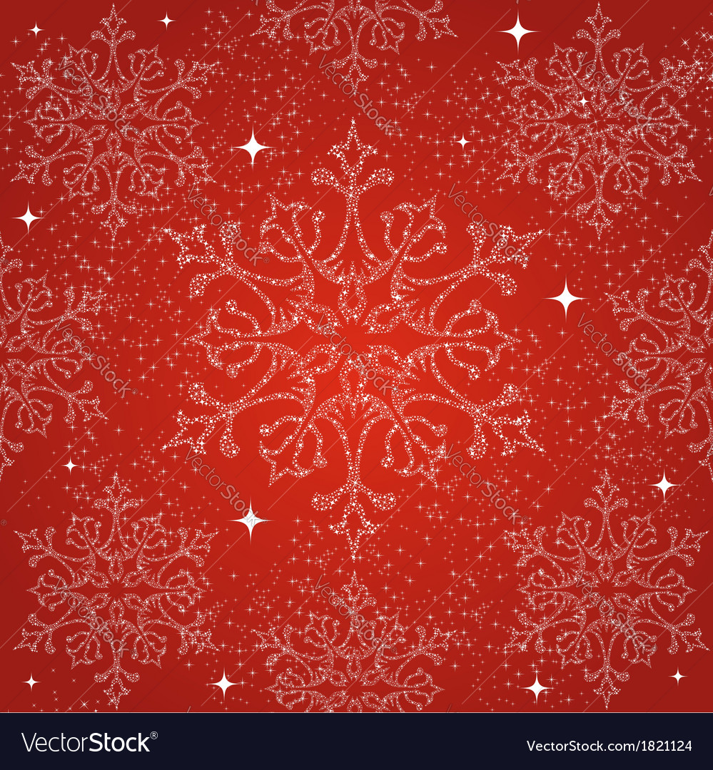Merry christmas snowflakes seamless pattern vector | Price: 1 Credit (USD $1)
