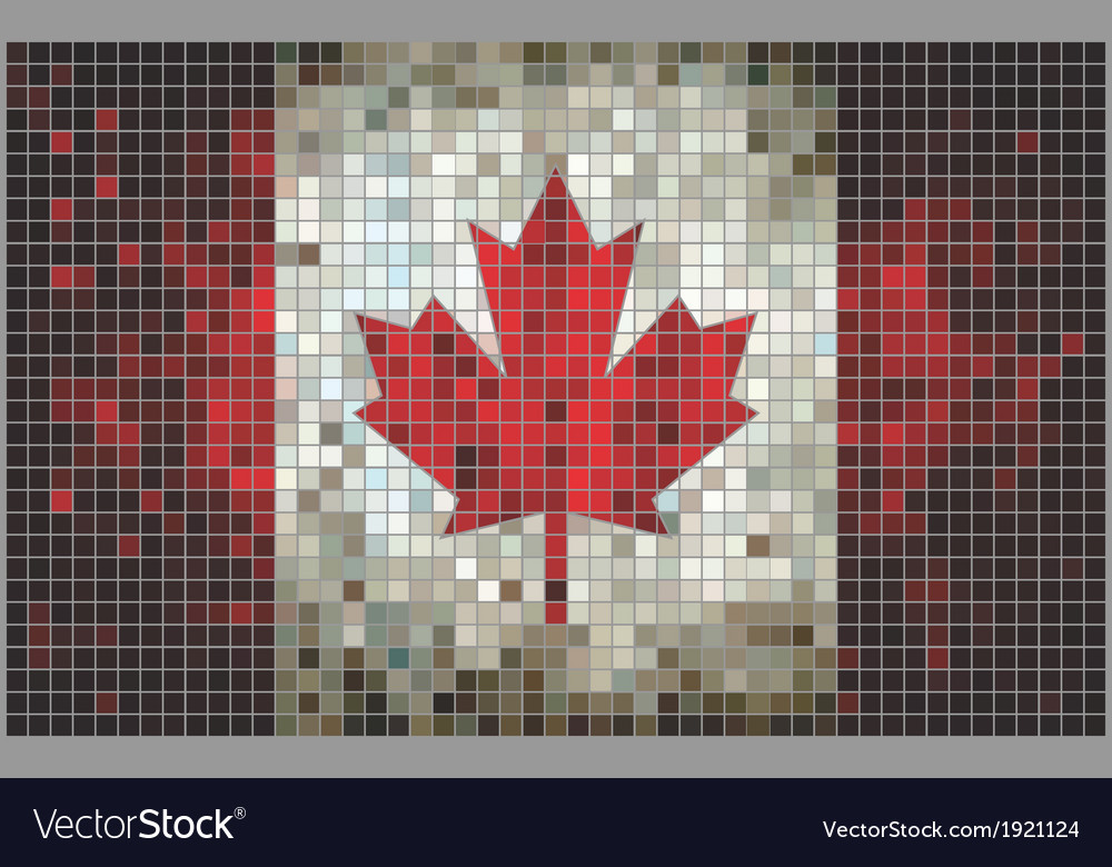 Mosaic flag of canada vector | Price: 1 Credit (USD $1)