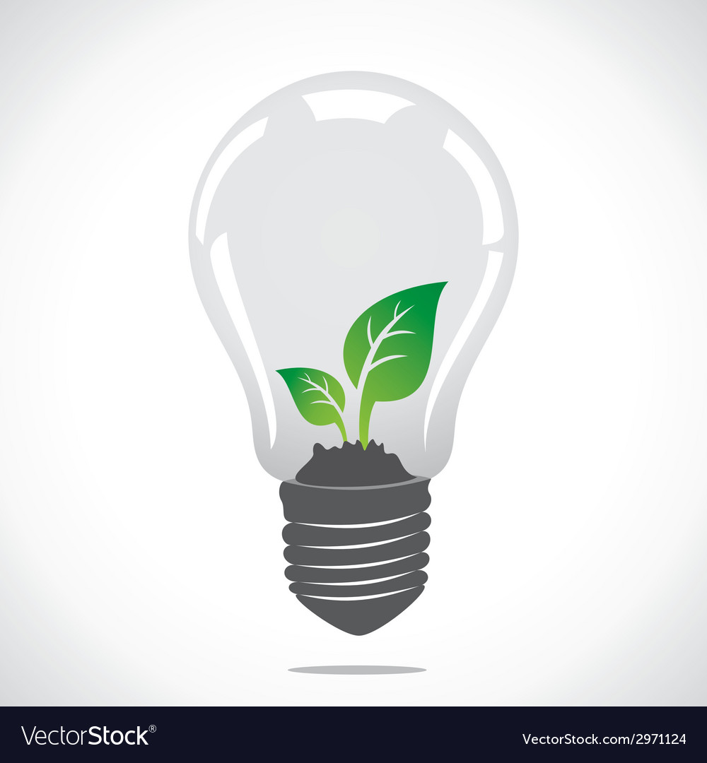 Small plant in bulb vector | Price: 1 Credit (USD $1)