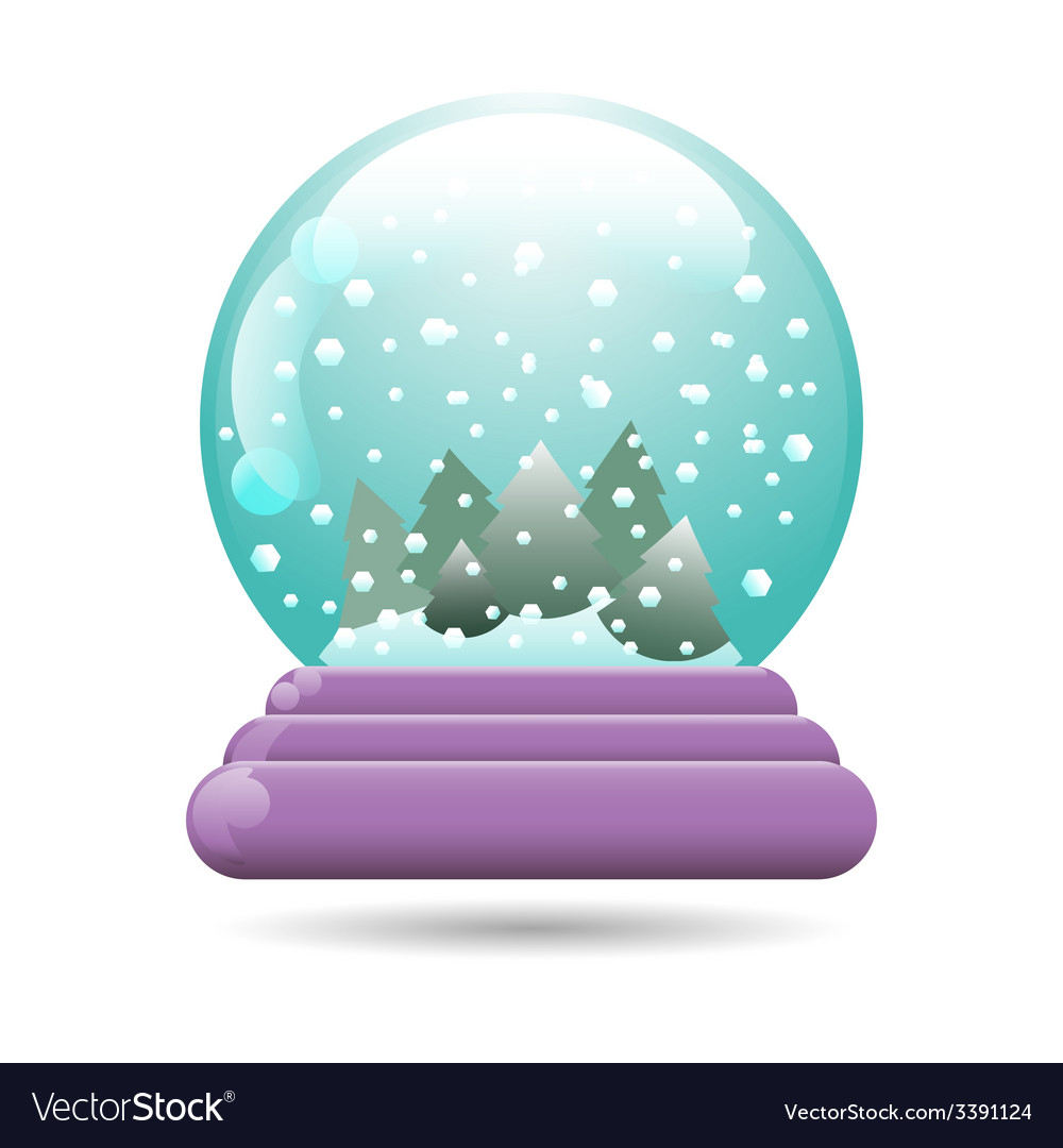 Snow globe with a christmas tree vector | Price: 1 Credit (USD $1)