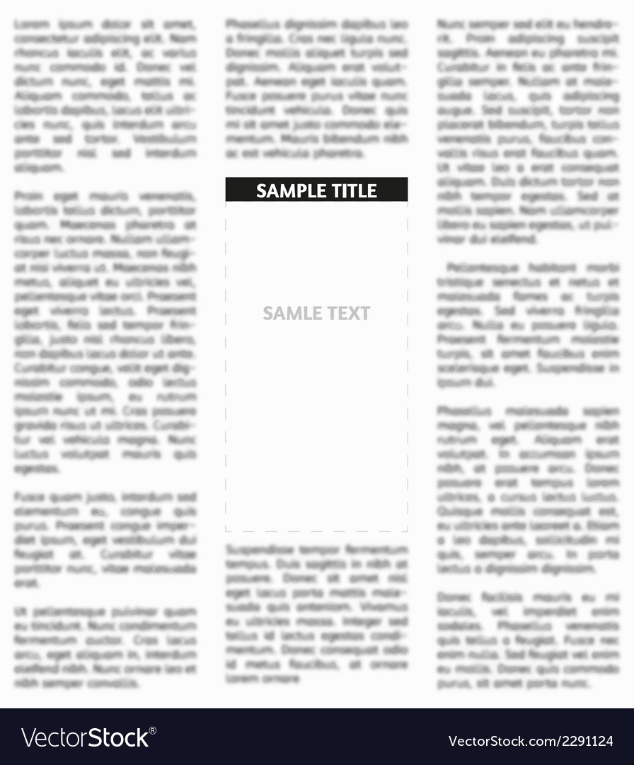 Unsharp newspaper vector | Price: 1 Credit (USD $1)