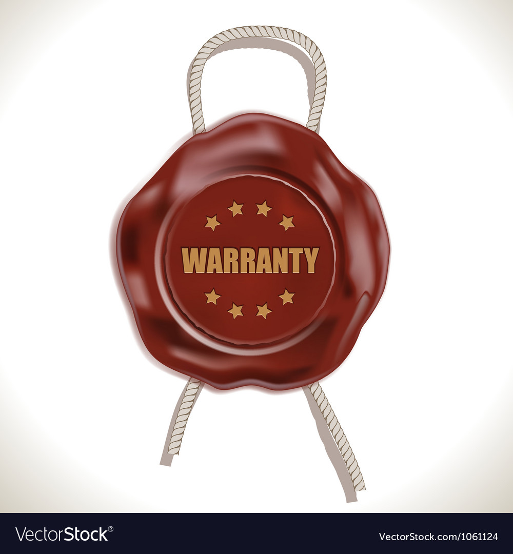 Warranty wax seal vector | Price: 1 Credit (USD $1)