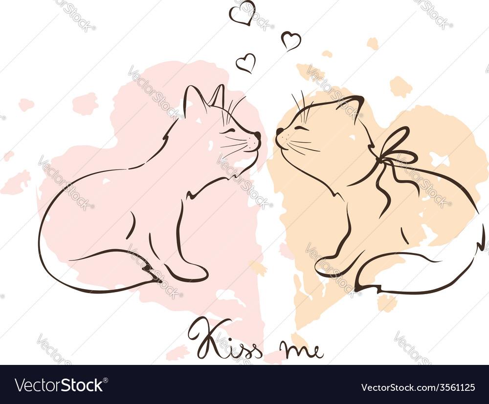 - love cats vector | Price: 1 Credit (USD $1)
