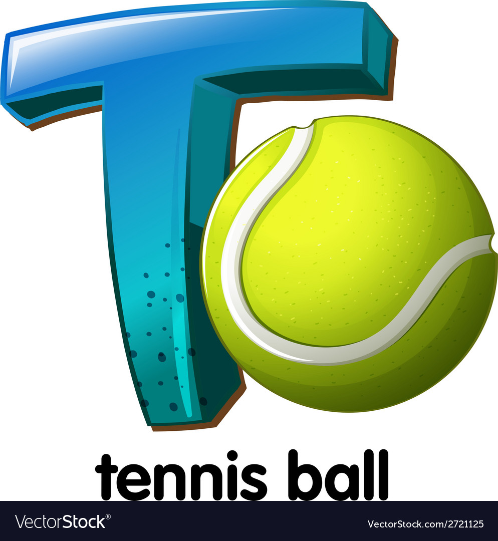 A letter t for tennis ball vector | Price: 1 Credit (USD $1)