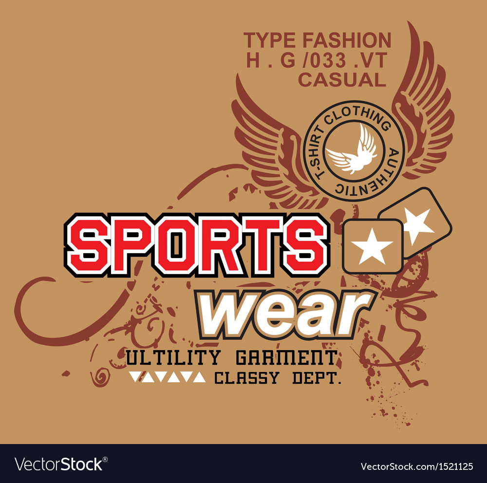 Art design with models sportswear vector | Price: 1 Credit (USD $1)