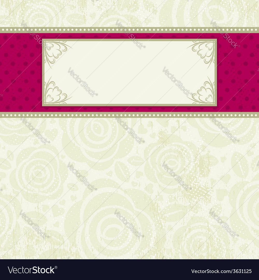 Beige valentine background with many roses vector | Price: 1 Credit (USD $1)